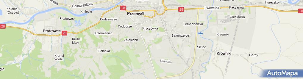 Zdjęcie satelitarne Branżowa Szkoła I Stopnia Nr 1 W Przemyślu
