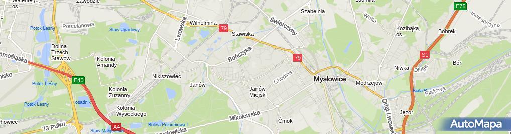 Zdjęcie satelitarne Branżowa Szkoła I Stopnia Nr 3 Im.kardynała Augusta Hlonda W Mysłowicach
