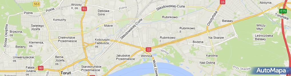 Zdjęcie satelitarne Branżowa Szkoła I Stopnia Nr 3 W Toruniu