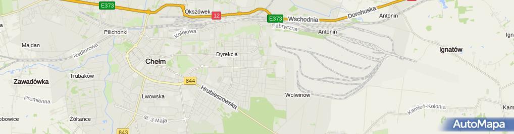 Zdjęcie satelitarne Branżowa Szkoła I Stopnia Nr 5 W Chełmie
