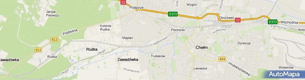 Zdjęcie satelitarne Branżowa Szkoła I Stopnia Specjalna Nr 6 W Chełmie
