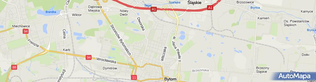 Zdjęcie satelitarne Branżowa Szkoła I Stopnia W Bytomiu Zakładu Doskonalenia Zawodowego W Katowicach