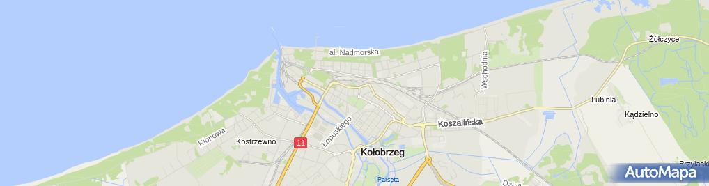 Zdjęcie satelitarne Branżowa Szkoła Specjalna I Stopnia W Kołobrzegu