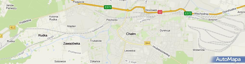 Zdjęcie satelitarne Rzemieślnicza Szkoła Branżowa I Stopnia W Chełmie