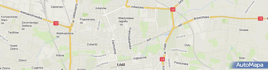 Zdjęcie satelitarne Zasadnicza Szkoła Zawodowa Specjalna nr 5