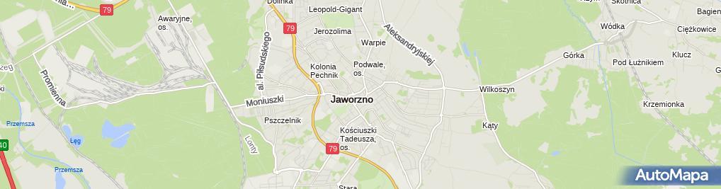 Zdjęcie satelitarne Szkoła Języków Obcych Proteuss Dariusz Wrona Andrzej Przygodzki