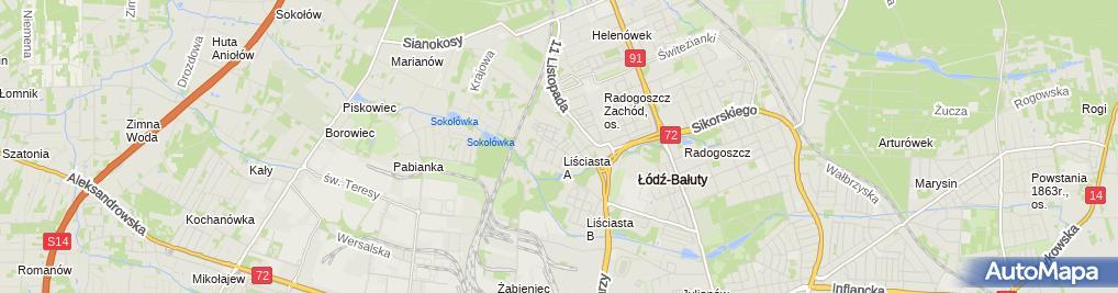 Zdjęcie satelitarne Centrum Kształcenia Kosmetycznego Pauliny Grabowskiej