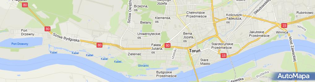 Zdjęcie satelitarne Kujawsko-Pomorskie Centrum Edukacji Nauczycieli