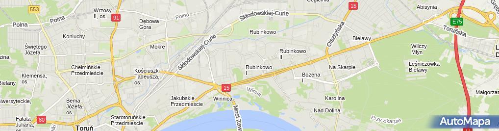Zdjęcie satelitarne Niepubliczna Placówka Kształcenia Ustawicznego 'Cosinus'
