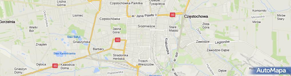 Zdjęcie satelitarne Ośrodek Szkolenia I Doskonalenia Zawodowego Sep Oddział Częstochowa