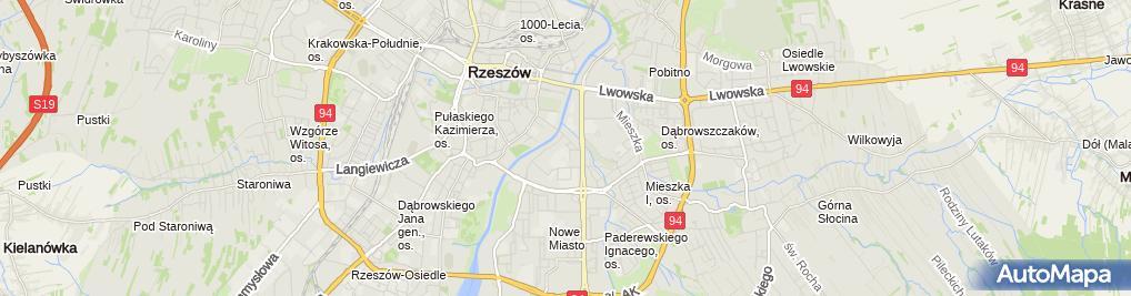 Zdjęcie satelitarne Podkarpackie Centrum Kształcenia Ustawicznego