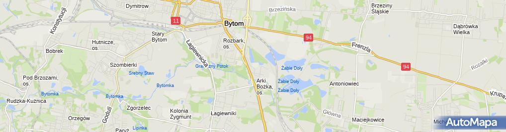 Zdjęcie satelitarne Jera Szkoła Podstawowa Dla Dorosłych W Bytomiu