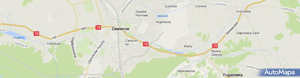 Zdjęcie satelitarne Katolicka Szkoła Podstawowa Stowarzyszenia Przyjaciół Szkół Katolickich Im. Jana Pawła II W Zawierciu