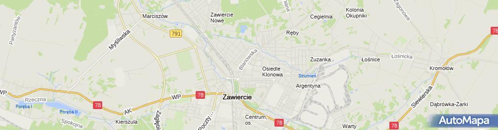 Zdjęcie satelitarne Miejska nr 6 im. Janusza Korczaka