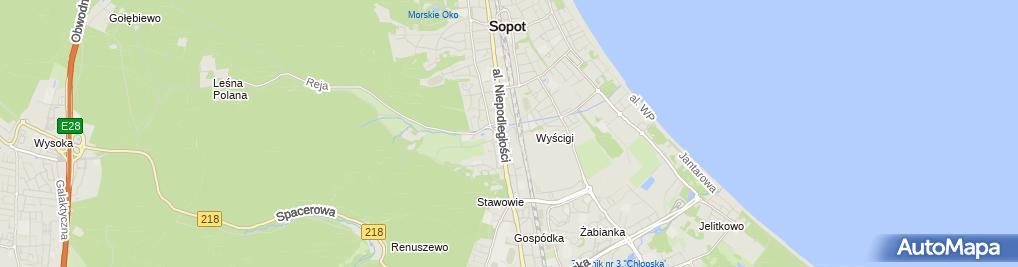 Zdjęcie satelitarne Niepubliczna Szkoła Podstawowa Lokomotywa W Sopocie