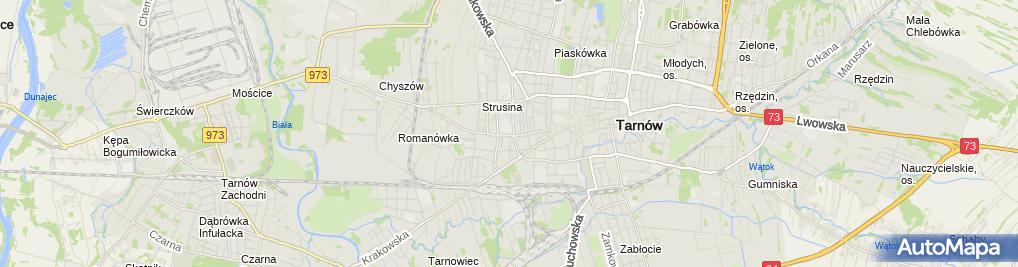 Zdjęcie satelitarne Nova Szkoła Podstawowa Dla Dorosłych W Tarnowie