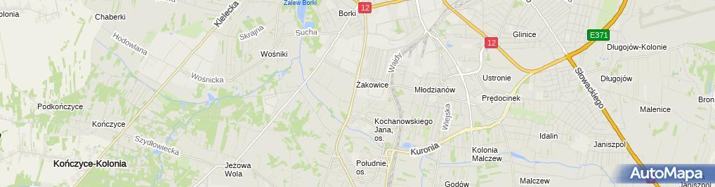 Zdjęcie satelitarne Publiczna Szkoła Podstawowa Nr 17 Im. Przyjaciół Dzieci W Radomiu