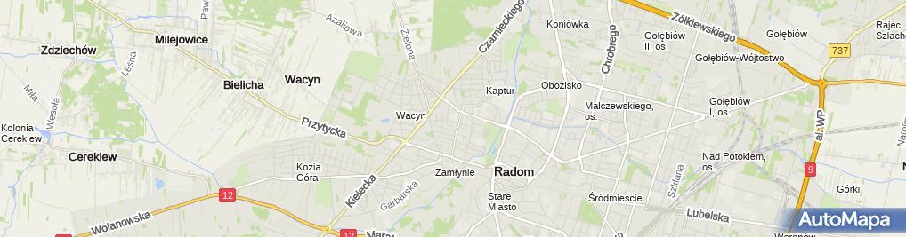 Zdjęcie satelitarne Publiczna Szkoła Podstawowa Nr 29 Z Oddziałami Integracyjnymi Im.władysława Broniewskiego W Radomiu