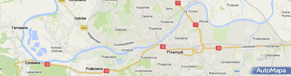 Zdjęcie satelitarne Salezjańska Niepubliczna Szkoła Podstawowa Im. Bł. Ks. Augusta Czartoryskiego W Przemyślu