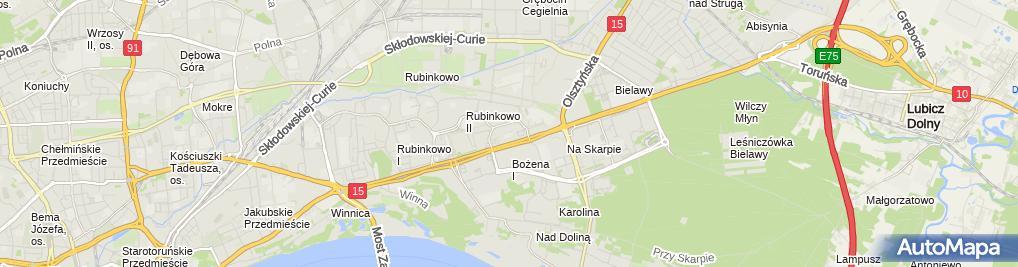 Zdjęcie satelitarne Społeczna Szkoła Podstawowa Im. Juliusza Słowackiego