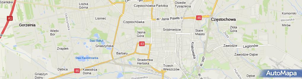 Zdjęcie satelitarne Szkoła Mistrzostwa Sportowego 'Nobilito' W Częstochowie