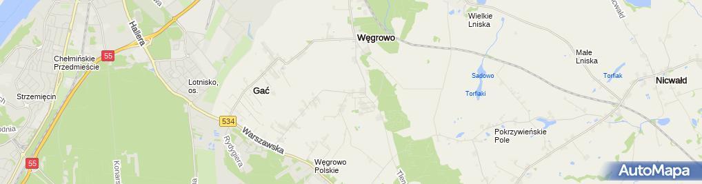 Zdjęcie satelitarne Szkoła Podstawowa Grudziądz-Węgrowo
