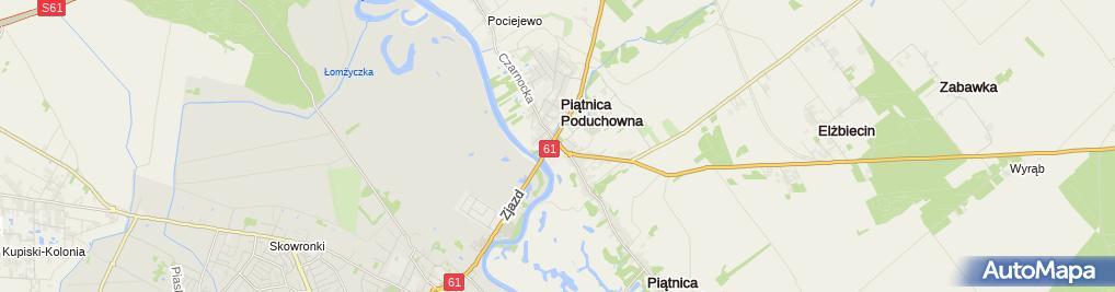 Zdjęcie satelitarne Szkoła Podstawowa Im. Mjr. Wł. Raginisa W Piątnicy