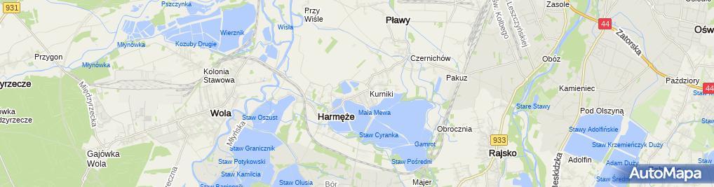 Zdjęcie satelitarne Szkoła Podstawowa Im. Św. Maksymiliana Marii Kolbego W Harmężach