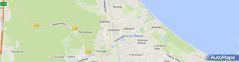 Zdjęcie satelitarne Szkoła Podstawowa Mistrzostwa Sportowego Nr 93 W Gdańsku