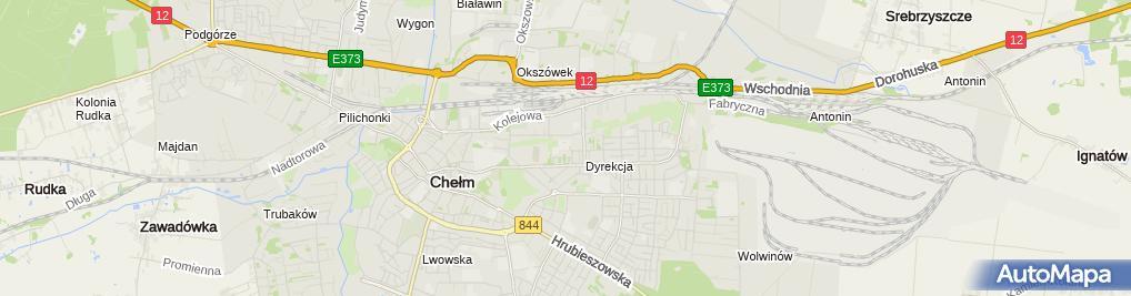 Zdjęcie satelitarne Szkoła Podstawowa Nr 1 Im. Tadeusza Kościuszki Z Oddziałami Integracyjnymi W Chełmie