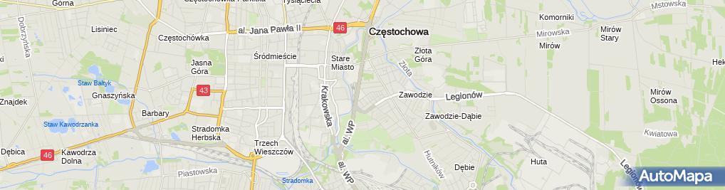 Zdjęcie satelitarne Szkoła Podstawowa Nr 10 Im.św.stanisława Kostki