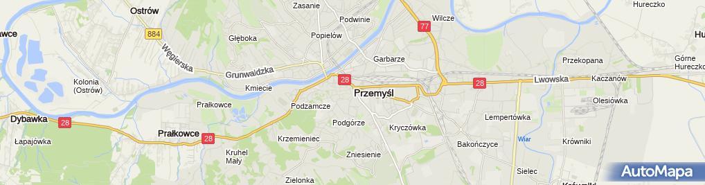 Zdjęcie satelitarne Szkoła Podstawowa Nr 11 Im. Henryka Jordana W Przemyślu