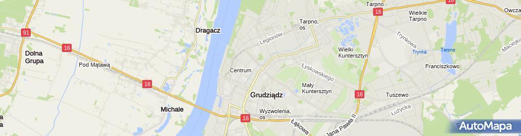 Zdjęcie satelitarne Szkoła Podstawowa Nr 13 Specjalna W Grudziądzu