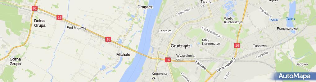 Zdjęcie satelitarne Szkoła Podstawowa Nr 17 Im. Sybiraków W Grudziądzu