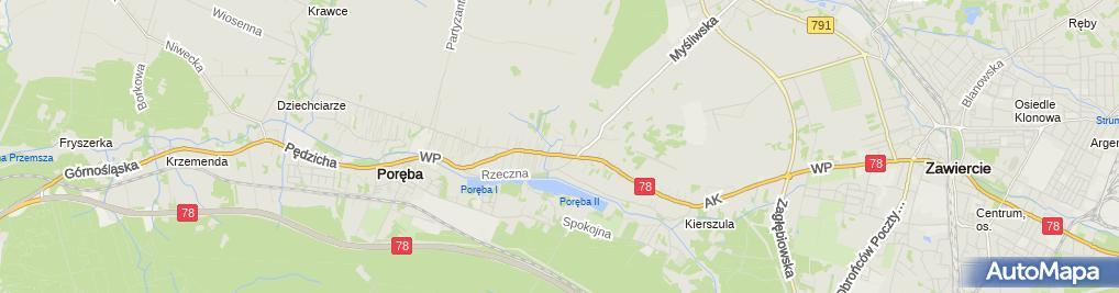 Zdjęcie satelitarne Szkoła Podstawowa Nr 2 Im. Jana Pawła II W Porębie
