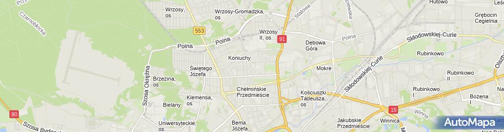 Zdjęcie satelitarne Szkoła Podstawowa Nr 3 Im.kpt.jana Drzewieckiego