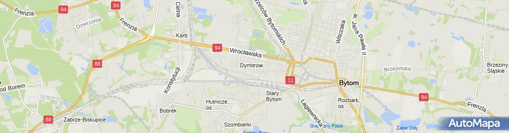 Zdjęcie satelitarne Szkoła Podstawowa Nr 36 W Bytomiu