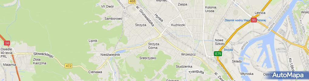 Zdjęcie satelitarne Szkoła Podstawowa Nr 39 Im. Wojska Polskiego W Gdańsku