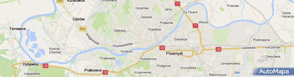 Zdjęcie satelitarne Szkoła Podstawowa Nr 4 Im. Ks. Jana Twardowskiego W Przemyślu