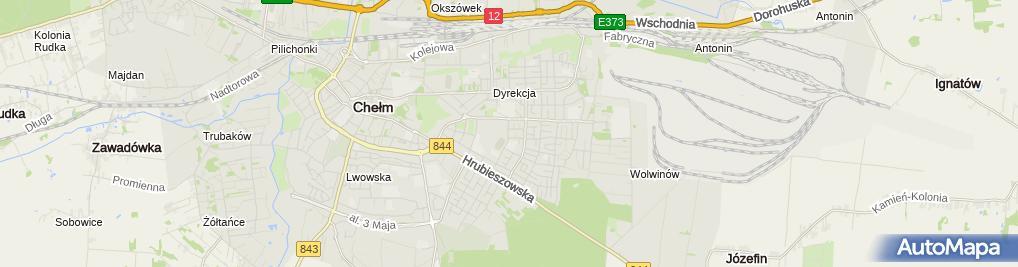 Zdjęcie satelitarne Szkoła Podstawowa Nr 4 Z Oddziałami Integracyjnymi Im. Kardynała Stefana Wyszyńskiego W Chełmie