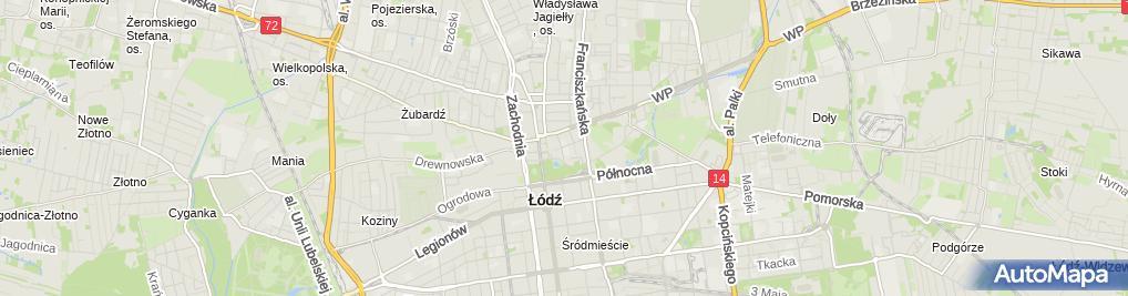 Zdjęcie satelitarne Szkoła Podstawowa Nr 45 Im. Jana Matejki