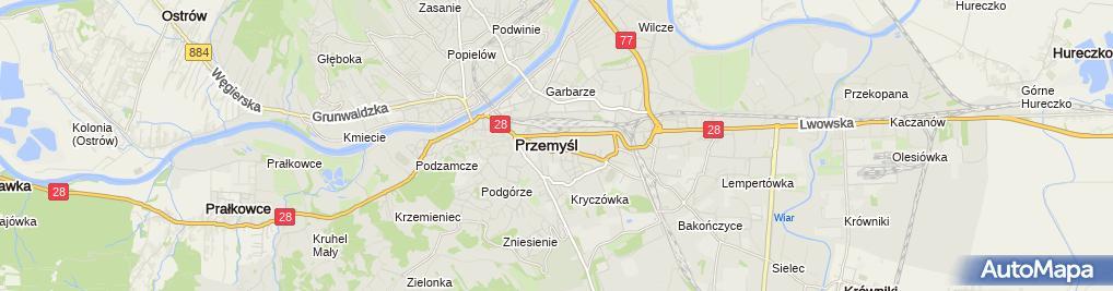 Zdjęcie satelitarne Szkoła Podstawowa Nr 5 Im. Bohaterów Września W Przemyślu