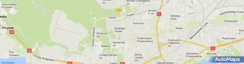 Zdjęcie satelitarne Szkoła Podstawowa Nr 5 Im. Romualda Traugutta