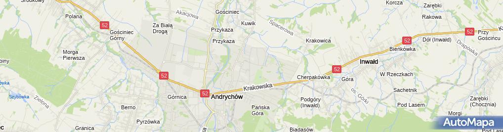 Zdjęcie satelitarne Szkoła Podstawowa Nr 5 W Andrychowie