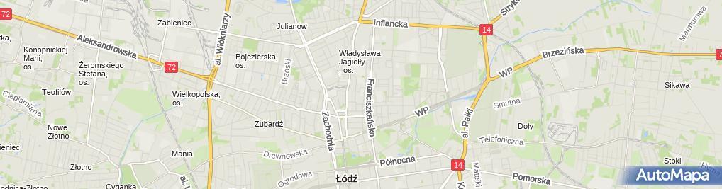 Zdjęcie satelitarne Szkoła Podstawowa Nr 58 Im. Melchiora Wańkowicza