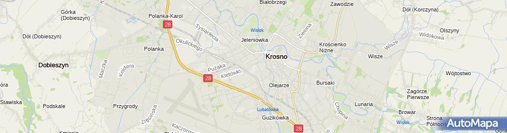 Zdjęcie satelitarne Szkoła Podstawowa Nr 6 Im. Janusza Korczaka W Krośnie