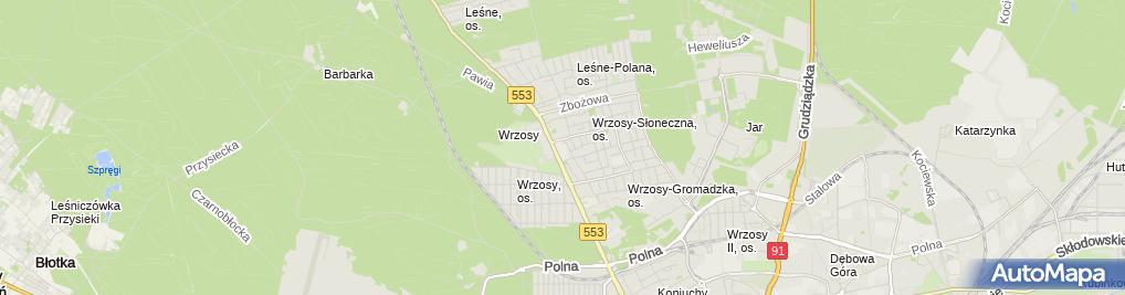 Zdjęcie satelitarne Szkoła Podstawowa Nr 9 Im. Stanisławy Jaworskiej