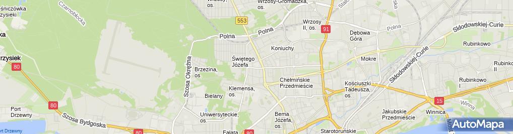 Zdjęcie satelitarne Szkoła Podstawowa Specjana Nr 25 W Toruniu