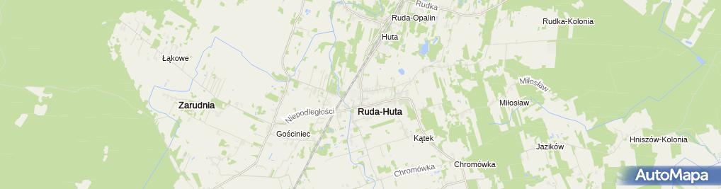 Zdjęcie satelitarne Szkoła Podstawowa W Rudzie-Hucie Im. Por. Zbigniewa Twardego Ps. 'Trzask'