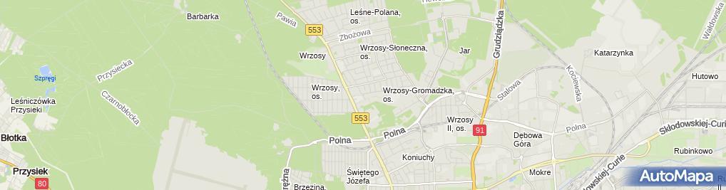 Zdjęcie satelitarne Europejskie Centrum Edukacji